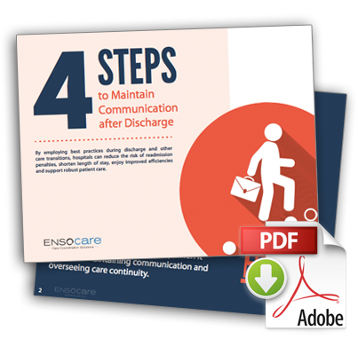 Ensocare - Free e-book: 4 Steps to Maintain Communication after Discharge